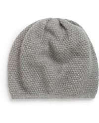 Saks Fifth Avenue Black Label Popcorn-Stitch Knit Beanie - Gray