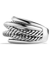 David Yurman Crossover Narrow Ring - Metallic