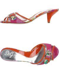D&G Sandals orange - Lyst