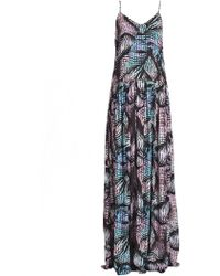 Matthew Williamson Beach Palm Print Gown - Lyst