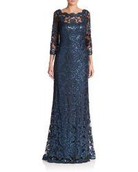 Tadashi Shoji | Sequin Lace Gown | Lyst