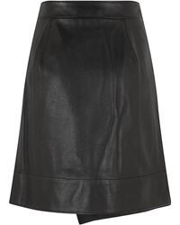 3.1 Phillip Lim Leather Rounded Fold Skirt - Lyst