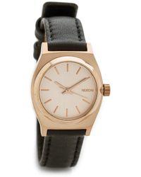 Nixon Small Time Teller Watch - Rose Gold/Black - Lyst