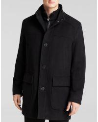 Cole Haan Wool Plush Coat - Lyst