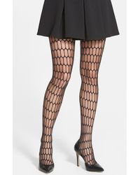 DKNY Burnout Oval Tights - Lyst