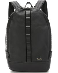 Rag & Bone Leather Derby Backpack - Black