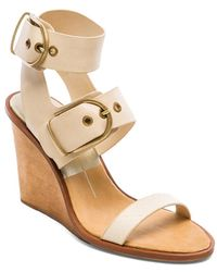 Dolce Vita Julissa Leather Wedges - Lyst
