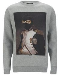 Les Benjamins Men'S Napoleon Cotton Sweatshirt - Grey