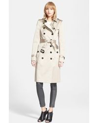 Burberry Prorsum Belted Sateen Trench Coat gray - Lyst