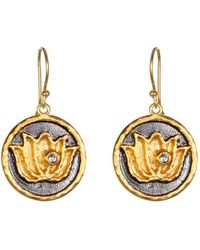 Satya Jewelry | 'lotus' Drop Earrings | Lyst