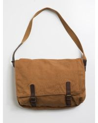 Alternative Apparel - Bucharest Canvas and Leather Messenger Bag - Lyst