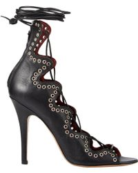 Isabel Marant Lelie Ankle-wrap Sandals - Lyst