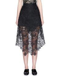 Helen Lee - Asymmetric Hem Guipure Lace Skirt - Lyst