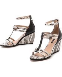 Rachel Zoe - Nancy Strappy Wedge Sandals - Lyst