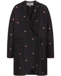Mulberry Black Marianne Coat - Lyst