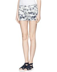 Tory Burch 'Perry' Scenery Print Shorts blue - Lyst