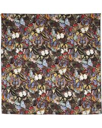 Valentino Small Butterfly Print Scarf - Lyst
