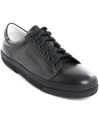 A.P.C. Jaden Navy Leather Sneakers - Lyst