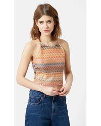 Topshop Women'S Crochet Crop Top - Lyst
