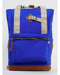Topman Blue Washed Nylon Backpack - Lyst