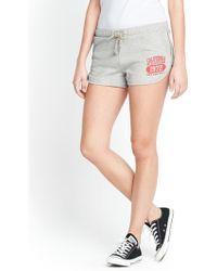 Brave Soul Gray Logo Shorts - Lyst