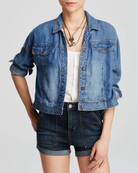 Free People Jacket - Tencel® Denim Swing - Lyst