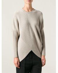Stella McCartney Beige Asymmetric Sweater - Lyst
