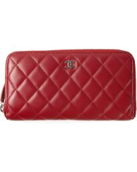 Chanel Quilted Wallet - Lyst