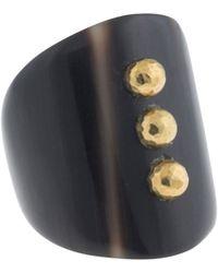 Ashley Pittman - Bronze Mini Stud Dark Horn Ring - Lyst