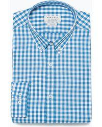 Zara Gingham Shirt - Lyst