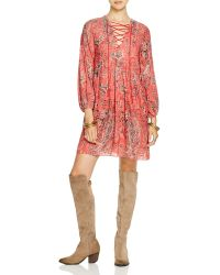 Free People | Rain Or Shine Printed Peasant Dress | Lyst
