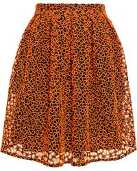Christopher Kane Embroidered Mini Skirt - Lyst
