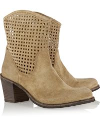 Fiorentini + Baker Nappa Brushed Suede Ankle Boots - Lyst