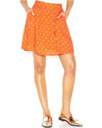 Maison Jules Heart-Print Mini Skirt - Lyst