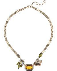 Sam Edelman Girls Club Mix Stone Clear 16 Necklace - Lyst