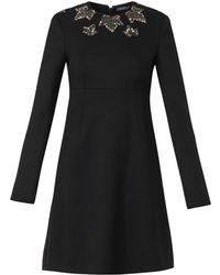 Alexander McQueen Ivy Crystalembellished Shift Dress - Lyst