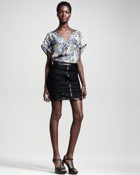 Kelly Wearstler Microcosm Leathertrim Lace Skirt - Lyst