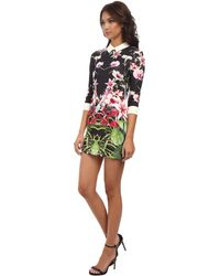 Ted Baker Youma Mirrored Tropics Collar Dress - Lyst