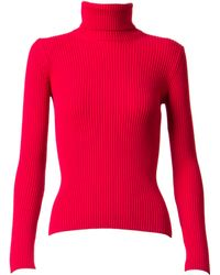 Alaïa | Ribbed Turtleneck Sweater | Lyst