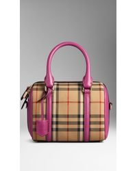 Burberry The Small Alchester In Horseferry Check beige - Lyst