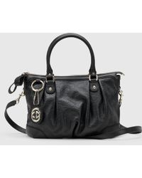 Gucci | Sukey Ssima Leather Top Handle Bag | Lyst