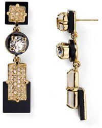 Kate Spade Imperial Tile Linear Earrings - Lyst