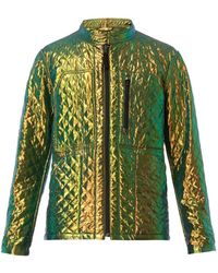 Issey Miyake Aurora Reversible Quilted Bomber Jacket - Lyst
