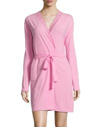 Cosabella Never Say Never Lace-Trim Short Wrap Robe - Lyst