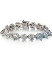 Eddie Borgo Silver-Plated Cubic Zirconia Cone Bracelet - Metallic