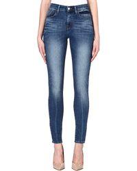 Levi's Skinny Highrise Jeans Blue Lagoona - Lyst