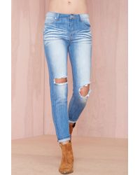 Nasty Gal R and R Faded Jeans - Lyst