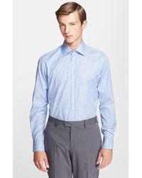 Etro 'Ippolito' Trim Fit Jacquard Stripe Shirt - Lyst