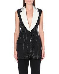 Alexander McQueen Mcq Stitch Detail Waistcoat Black - Lyst