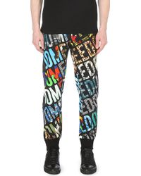 Moschino Freedom Print Jogging Bottoms Black - Lyst